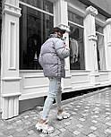 Пуховик - Мужской пуховик серый без капюшона / чоловіча куртка без капюшону, фото 6