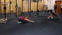 Резиновая плитка для спортивных объектов.