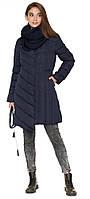 Куртка синяя женская с воротником-стойкой зимняя модель 9082 (ОСТАЛСЯ ТОЛЬКО 44(XS)), фото 1