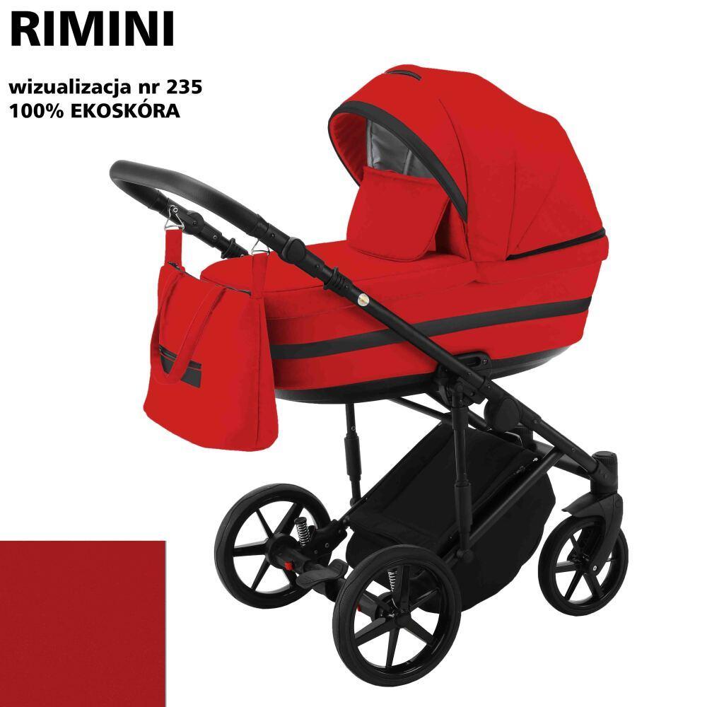 Коляска 2 в 1 Adamex Rimini ECO кожа 100% RI-235