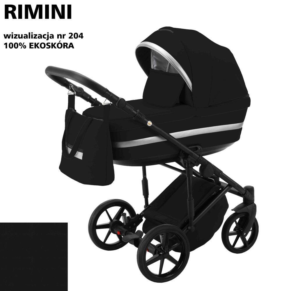 Коляска 2 в 1 Adamex Rimini ECO кожа 100% RI-204