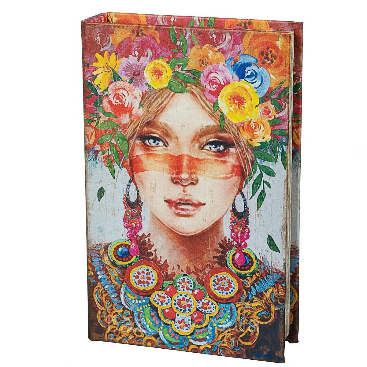 Книга сейф Девушка в цветах 26 см