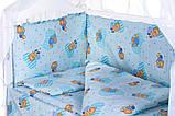 Детская постель Qvatro Gold RG-08 рисунок  голубая (мишки), фото 2