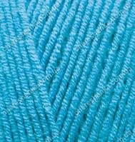 Нитки Alize Cotton Gold 245 голубой сочи