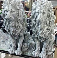 Садовый декор гипсовая фигура уличная Лев Большой, 1 шт