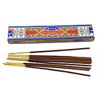 Ароматические палочки индийские натуральные Сагарома, Sagaroma (15g) Satya