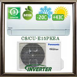Panasonic CS/CU-E15PKEA до 45 кв.м. инверторный кондиционер до -20С на обогрев, Малайзия
