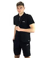 Мужская черная молодежная футболка поло, футболка для мужчины Polo Reebok