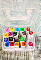 Скетч маркеры двусторонние для бумаги набор 18 шт. | Скет Маркер | SketchMarker