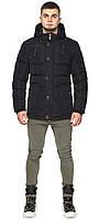 Куртка черная мужская зимняя с накладными карманами модель 44516, фото 1