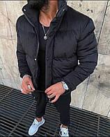 Куртка мужская зимняя вельветовая до -25*С черная теплая   Пуховик мужской зимний ЛЮКС качества
