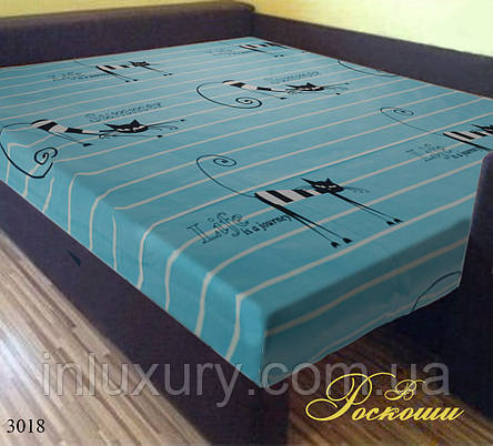 Простынь на резинке Коты 140х200х20, фото 2