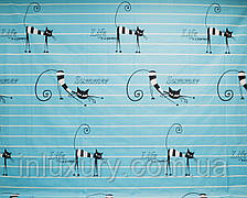 Простынь на резинке Коты 80х190х20, фото 2