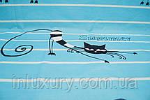 Простынь на резинке Коты 80х190х20, фото 3