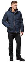 Куртка зимняя короткая мужская цвет светло-синий-коричневый модель 3570 (ОСТАЛСЯ ТОЛЬКО 50(L)), фото 1