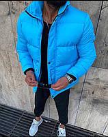 """Куртка мужская зимняя """"Камон"""" синяя до - 25*С теплая   Пуховик мужской зимний ЛЮКС качества"""