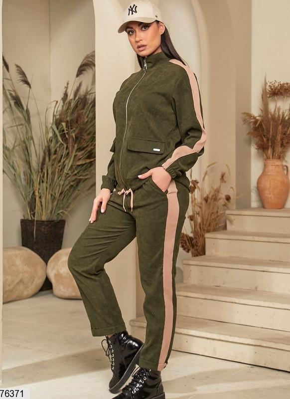 Спортивний костюм жіночий з микровельвета (3 кольори)