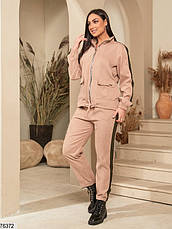 Спортивний костюм жіночий з микровельвета (3 кольори), фото 3