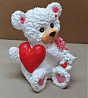 Фигурка копилка гипсовая Мишка влюбленное сердце