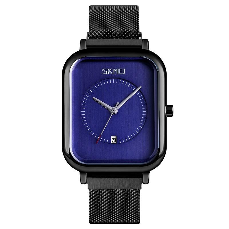 Skmei 9207 чорні з синім чоловічі класичні наручний годинник