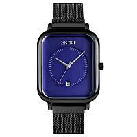 Skmei 9207 чорні з синім чоловічі класичні наручний годинник, фото 1