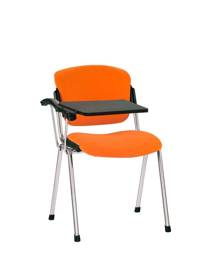 Era (Эра) T black/chrome  офисный стул для посетителей с откидным столиком