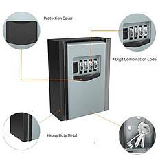 Мини сейф для ключей с кодовым замком Badoo Security T10 (100700), фото 3