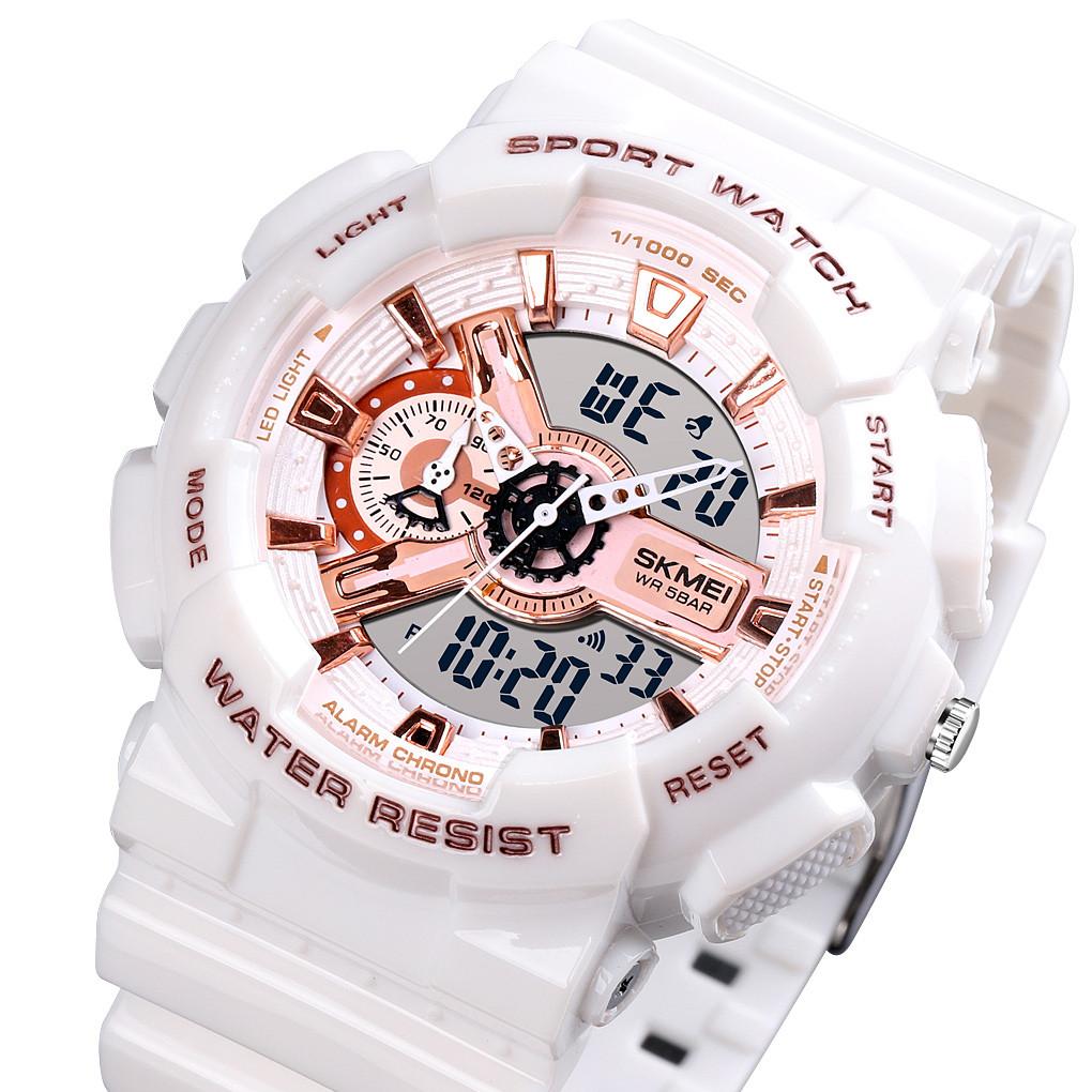 Спортивные  часы Skmei 1688 белые
