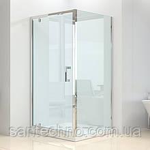 Квадратная душевая кабина Dusel А-516, 100х100х190, дверь распашная, стекло прозрачное