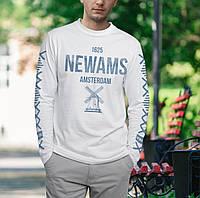 Футболка мужская с длинным рукавом, с принтом NEWAMS
