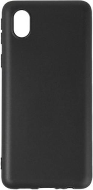 Чохол для Samsung Galaxy A01 Core (A013) силиконовый бампер черный