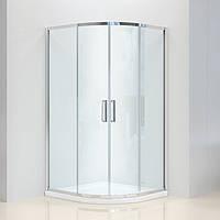 Душевая угловая кабина Dusel А-511, 100х100х190, двери раздвижные, стекло прозрачное