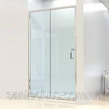 Душевая дверь Dusel FА-512, 140х190, дверь раздвижная, стекло прозрачное
