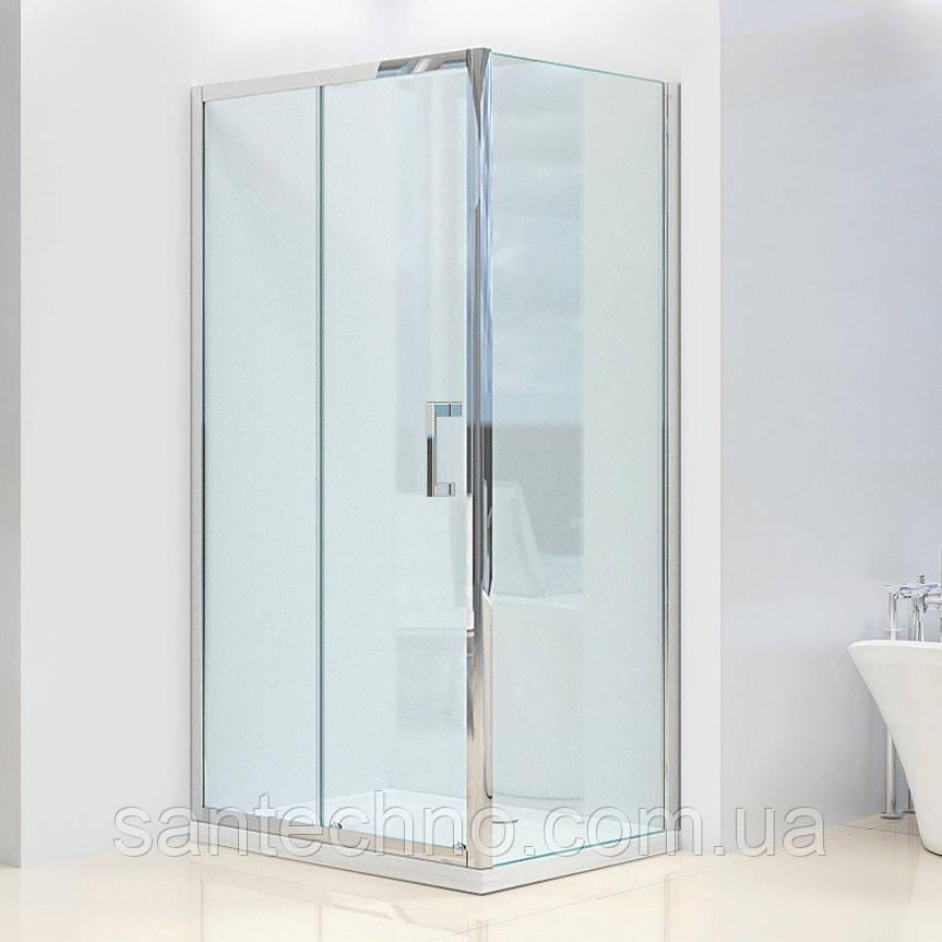 Душевая кабина Dusel А-515, 120х80х190, дверь раздвижная, стекло прозрачное