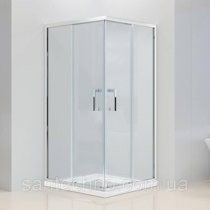 Душевая квадратная кабина Dusel A-513 800*800*1900 Clear (прозрачное стекло)