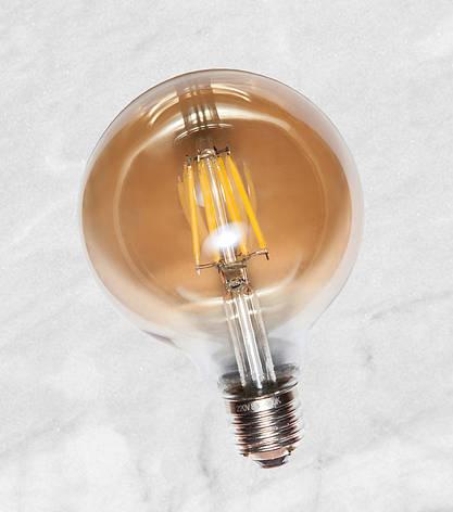 COW лампа LED G80 8W Amber 2700K E27 RC, фото 2