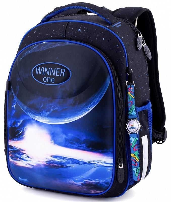 Школьный рюкзак ортопедический для мальчика в 1-4 класс каркасный Космос Winner One 6018