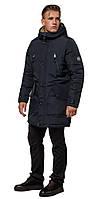 Черно-синяя парка износостойкая мужская зимняя модель 96120, фото 1
