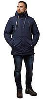 Парка синяя мужская зимняя брендовая модель 43015, фото 1