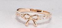 [ Кольцо Бантик ] Женское кольцо колечко с бантиком 16 Золото