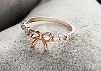 Женское кольцо 16 р в виде Бантика