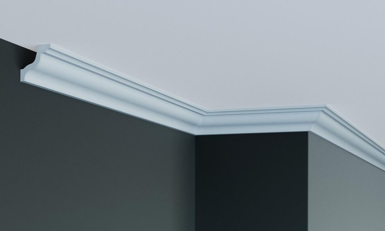 Карниз полиуретановый гладкий Gaudi Decor P 224