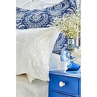 Набор постельное белье с покрывалом Karaca Home - Elina beyaz белый евро