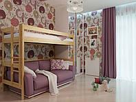 """Деревянная двухъярусная детская кровать-чердак """"Горище"""""""