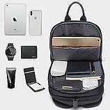 Однолямочний рюкзак Bange BG-7079 чоловіча міської вологозахисний USB-порт 6л чорний, фото 2
