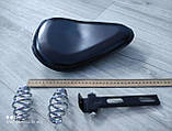 Переднее одиночное сидение мотоцикла (стяжка ромбом) на пружинах., фото 4