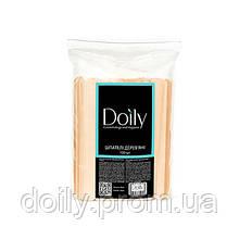 Шпатели деревянные одноразовые Doily (100 шт )