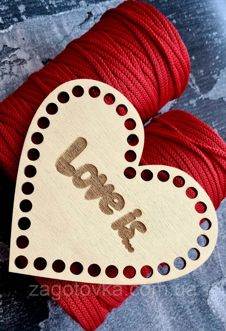 Заготовка в форме сердца LOVE IS 15см