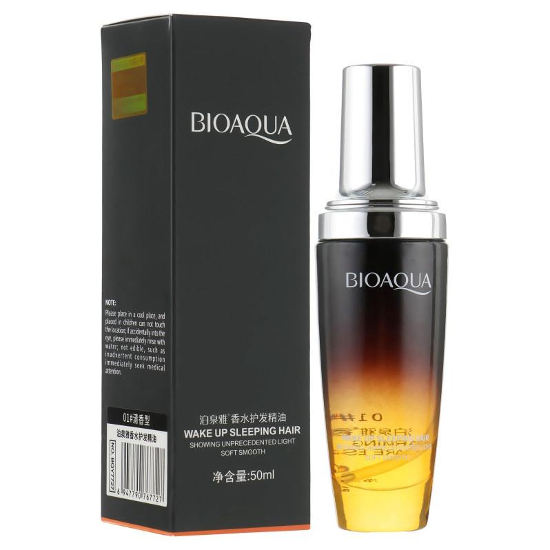 Масло для волосся лимонний квітка Bioaqua Wake Up Sleeping Hair Lemon Flower (50мл)