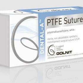 PTFE (Dental-A) 5/0; не розсмоктується монофіламентний білий 45см